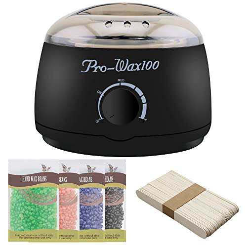 Rapid-Melt-Hair-Removal-Waxing-Kit-Electric-Hot-Wax-Warmer-with-4-Different-Flavors-Hard-Wax-Beans-and-Wax-Applicator-SticksAloe-veraLavenderStrawberryChocolate