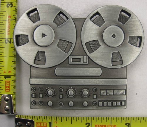 Reel To Reel Tape Recorder Metal Belt Buckle Player Audio Record