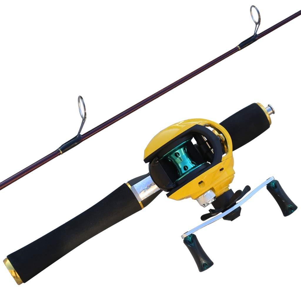 テレスコピック釣り竿とリールコンボミニ釣り竿短いセクションストレートシャンクアイスフィッシングロッドスーツソリッドポールシーロッド (サイズ さいず : 110cm set) 110cm set  B07QC8CCT1