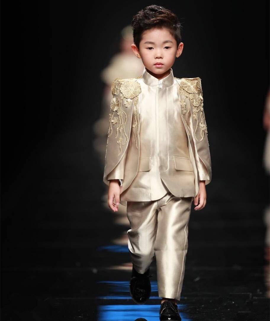WXNLEAI De gama alta a medida para niños disfraces marea niños traje modelos europeos trajes anfitriones niños pasarela vestido de noche hombres, ...