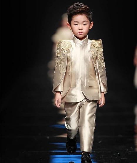 WXNLEAI De gama alta a medida para niños disfraces marea niños traje modelos europeos trajes anfitriones