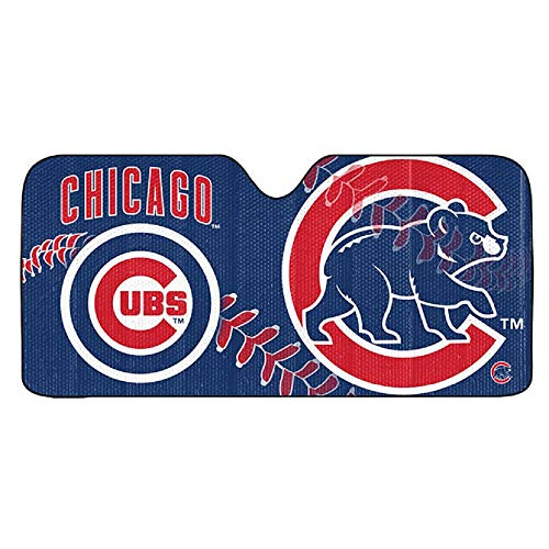 ProMark MLB Chicago Cubs Auto Sun Shade 59x27, Team Color, One Size