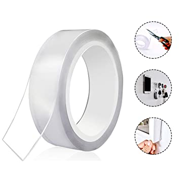 FA Magic Double-sided Tape Traceless Washable Adhesive Tape Nano Invisible Gel