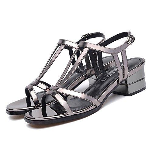 in donna Elegante e estate UE Lead con color sandali tacco alto RUGAI sandali tacchi awqY4xH