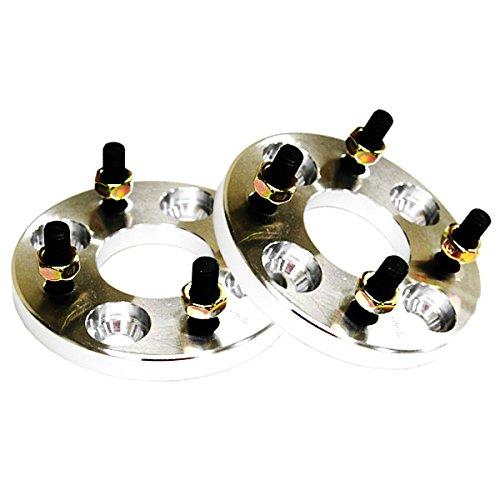 ワイドトレッドスペーサー PCD100-4H-P1.25 / ハブ径66mm (シルバー) 20mm 2枚入り B00W19YEQO