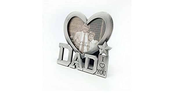 Marco de foto - fotos,Regalo da del padre,Lindo portaretrato de metal,Marco de fotos modernas Importacin (Me encantan los regalos de pap) -A: Amazon.es: ...