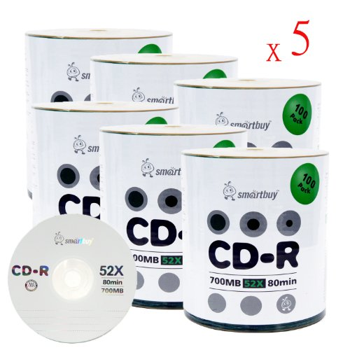 Smart Buy Logo CD-R 3000-Pack 700mb 52x Blank Data Recordable Discs, 3000 Disc, 3000pk by Smart Buy
