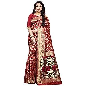 VANI CREATION Red Color Fab net sarees with blouse piece Saree