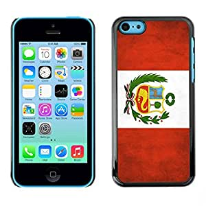 Paccase / SLIM PC / Aliminium Casa Carcasa Funda Case Cover - National Flag Nation Country Peru - Apple Iphone 5C