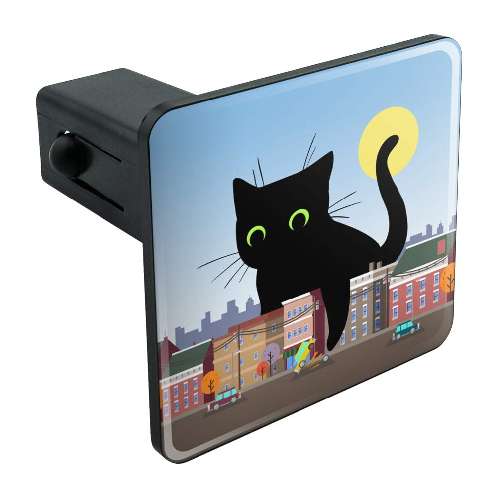 Graphics and More Giant Black Cat Playing with Cars Tow Trailer Hitch Cover Plug Insert 2