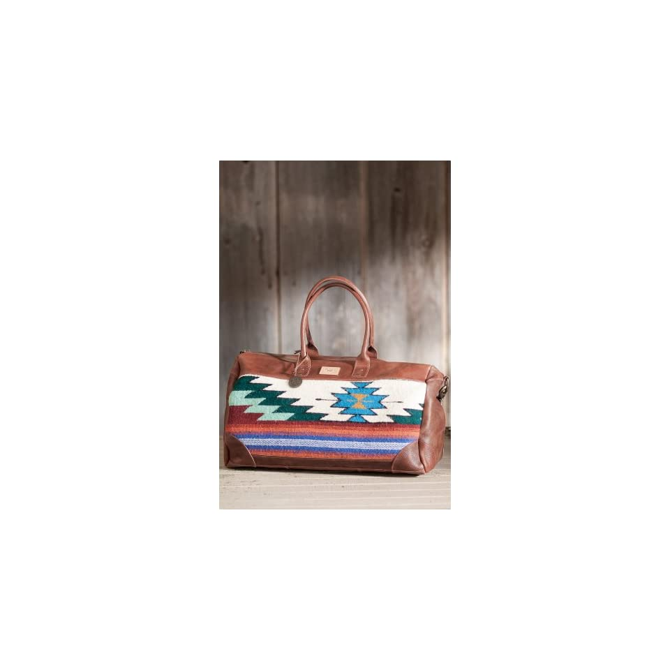 Will Oaxacan Hand Woven Wool and Leather Duffel Bag