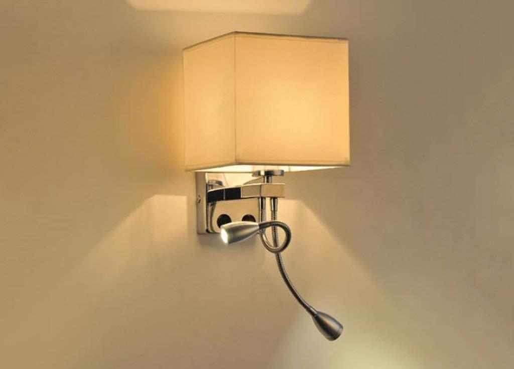 costo effettivo E applique Lampada da parete moderna minimalista minimalista minimalista E27 lampada da comodino camera da letto Lampada da parete a LED in tessuto con lampada da parete interruttore (colore   D)  migliore qualità