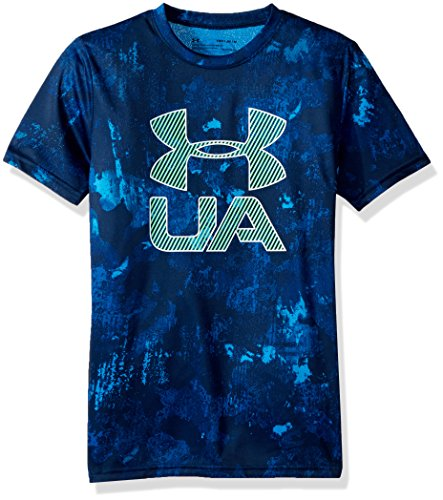 Under Armour Boys' Printed Crossfade T-Shirt, Academy (408)/White, Youth Large