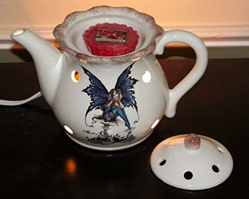 Retired Collectible Amy Brown Collection Electric Tea Pot Tart Wax Burner Scent Candle Warmer