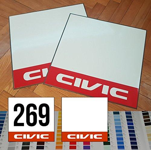 tyle Magnet Track Number Plates JDM Honda Civic EF EK FD FA EM - with Custom Number - 13