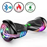 TOMOLOO Hoverboard and Smart Scooter Two-Wheel Self Balancing Electric Scooter with Light - Black Hover Board with UL2272 Certified for Battery Protection… … …
