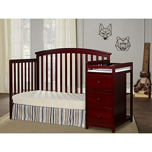 Dream On Me Niko 5-in-1 Convertible Crib with Changer, Cherry by Dream On Me (Image #3)