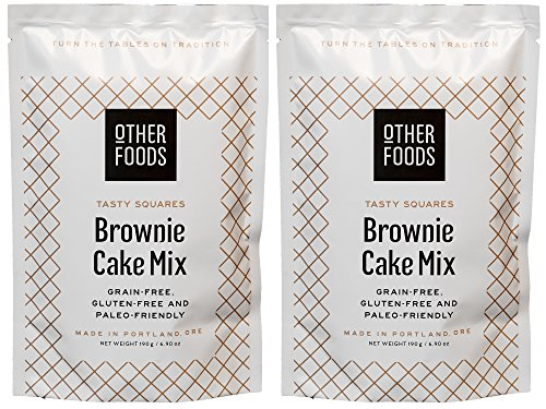 Gluten Free Chocolate Brownie Cake Mix, Paleo Friendly – Grain, Dairy, Nut & Soy Free - Easy Bake Vegan Baking Mix, by Other Foods 2-Pack