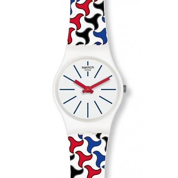 Swatch Reloj Analogico para Mujer de Cuarzo con Correa en Silicona LW156: Amazon.es: Relojes