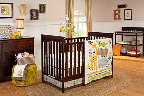 Crown Crafts NoJo Zoobilee Crib Bedding Set, 4 Count