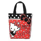 CJB Sanrio Lovely Hello Kitty Multipurpose Shoulder Shopping Bag with Zipper Red Finger