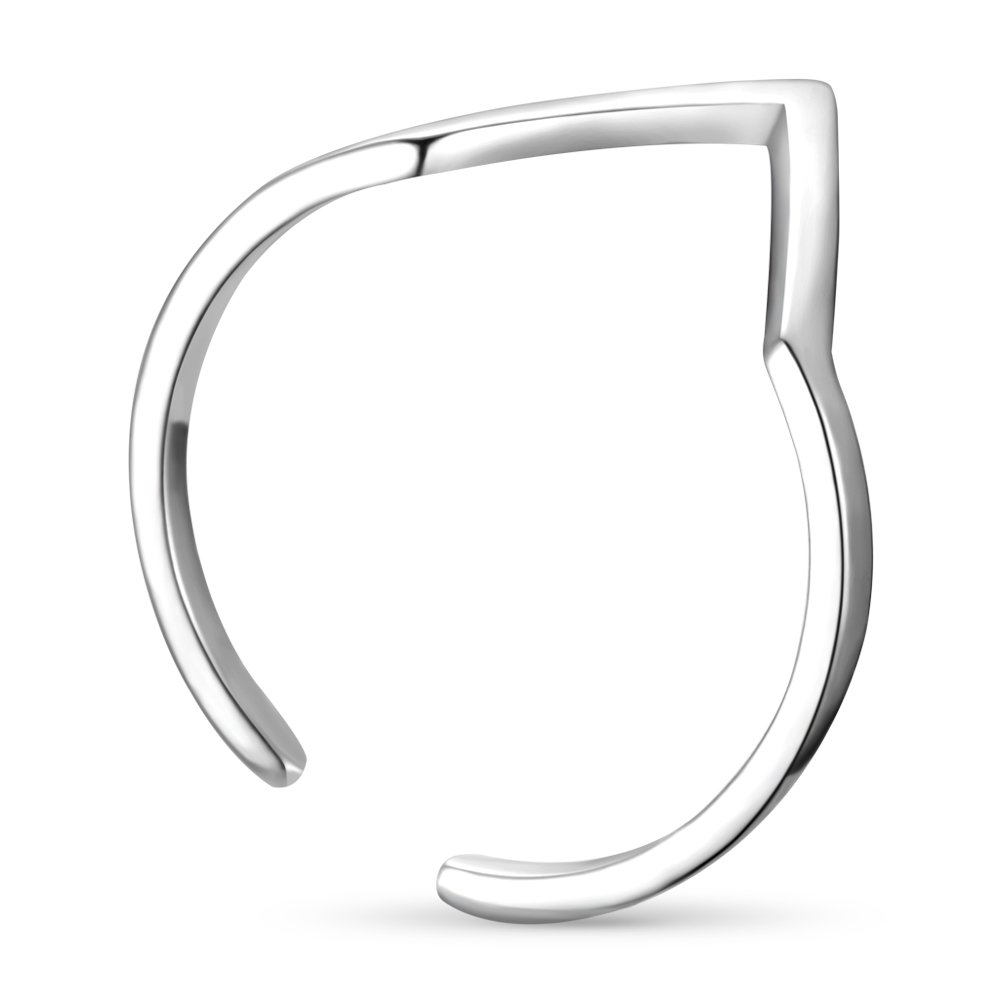 TinySand Exquisite Adjustable Open Triangle Chevron Finger Ring Sterling Silver for Womens