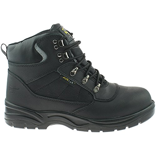 Hiker Typ Safety Stiefel, wasserdicht, Schwarz Black Action Leather/Nylon