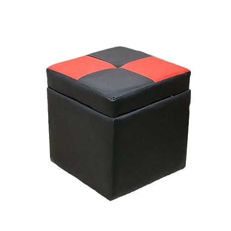 Super Amazon Com Pu Leather Storage Chest Footstool Ottoman Dailytribune Chair Design For Home Dailytribuneorg
