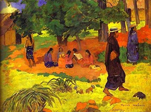 Gauguin Paul Taperaa Mahana 100% Hand Painted Oil Paintings Reproductions 12X16 Inch