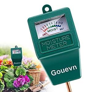 Gouevn Soil Moisture Sensor Meter, Plant Moisture Meter Indoor & Outdoor, Hygrometer Moisture Sensor Soil Test Kit Plant…