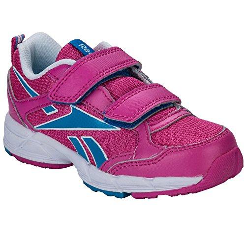 Reebok–Almotio Velcro Pink Multi–Zapatos Velcro Rojo - fucsia