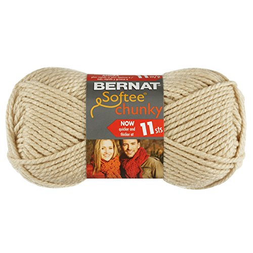Price comparison product image Bernat Softee Chunky Yarn, Linen, Single Ball