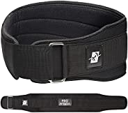 ProFitness Weight Lifting Belt (4 Inch Wide) - Locking Weight Belt for Performance Lifting - Weightlifting Adj