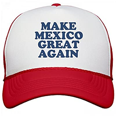 FUNNYSHIRTS.ORG Make Mexico Great Again Hat: Otto Poly-Foam Snapback Trucker Hat