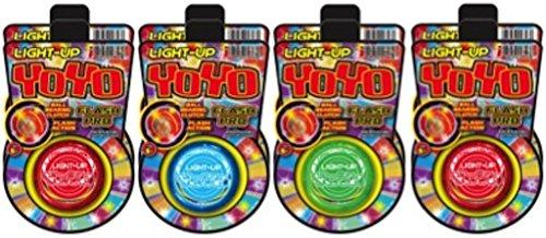 Ja-Ru Light Up Yo Yo Flash Pro (Party Favor Bundle Pack of 8)