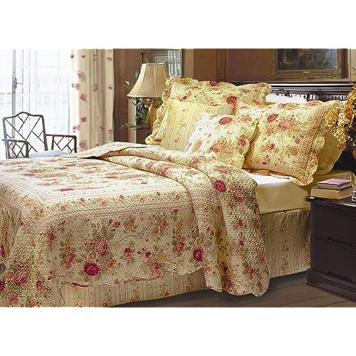 greenland home antique rose bonus quilt set fullqueen - Antique Bedroom Sets