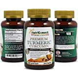 NutriCommit Premium Turmeric Curcumin 750mg 95% Curcuminoids with BioPerine 120 vegetable capsules supplement.One each day supports Joint & Cardiovascular Health.Natural Detox and Powerful Antioxidant Review