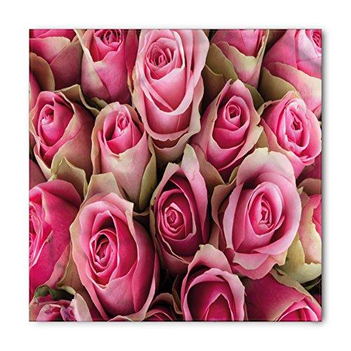 Sweetheart Bandana (Rose Bandana by Ambesonne, Blooming Fresh Pink Roses Festive Bridal Bouquet Romance Sweetheart Valentine, Printed Unisex Bandana Head and Neck Tie Scarf Headband, 22 X 22 Inches, Pink Pale Green)