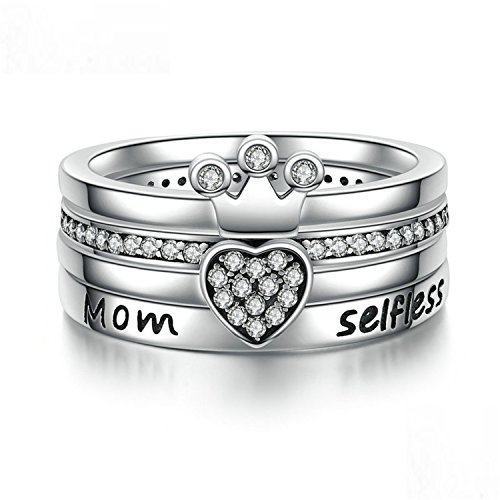 Sterling Stackable Heart Crown Ring Women Clear Authentic Jewelry Gift Scr031 6 - Nordstrom Sterling Silver Ring