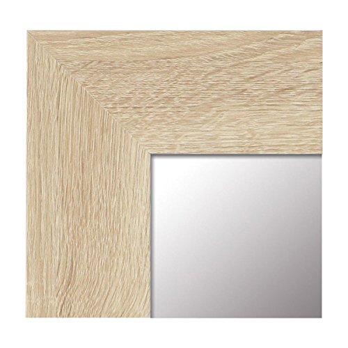 Espejo de Pared Fabricado en Espana- Varios Tamanos y Colores - Espejo Vestidor, Salon, Bano, Entraditas- Modelo MDF8 (Haya, 65x165 cm)