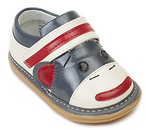 - Wee Squeak Socks Monkey Grey Toddler Squeaky Shoe Size 4