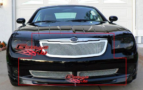 Discount 04-08 Chrysler Crossfire Stainless Mesh Grille Grill Combo Insert