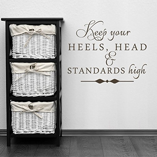 Cheap  MairGwall Keep Your Heels, Head and Standards High Girl Room Decor Lettering..