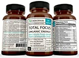 Gaia Sciences Total Focus Formula for Added Attention Boost Mood Increase Brain Memory Mental Cognitive Enhancer Anti Stress Anxiety Depression Panic Ashwagandha Ginkgo Ginseng Nerve Tonic Energizer