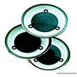 Chauffe-Assiettes au micro onde - Microwave Plate Warmers - Set of 3 heating pads give you hot plates from the microwave in seconds. Use together as a Hot Plate for the table or individually as a heated tabletop setting.