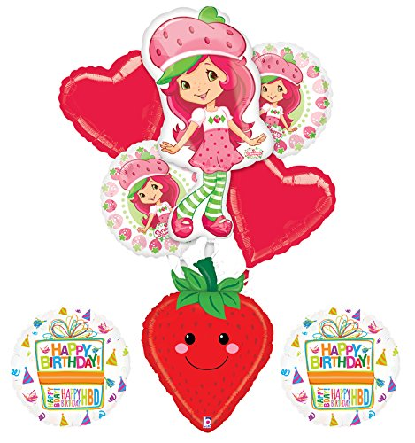 Strawberry Shortcake Birthday Cakes (Strawberry Shortcake Birthday Party Supplies and Balloon Bouquet Decorations)