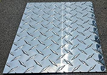 Amazon Com Diamond Tread Plate Aluminum 045 24 X 48 3003 18 Gauge Chrome Polish Home Improvement