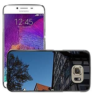 Etui Housse Coque de Protection Cover Rigide pour // M00170891 Casas Antiguo Gable Cielo Azul Truss // Samsung Galaxy S6 (Not Fits S6 EDGE)