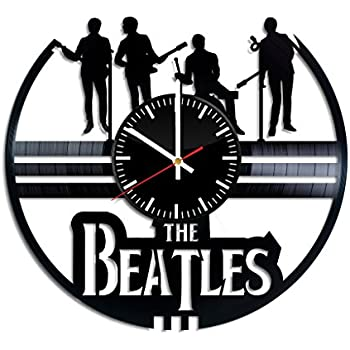 The Beatles Vinyl Clock - The Beatles Rock and Roll Music Vinyl Records Wall Art Room Decor Handmade Decoration Party Supplies Theme - Best Original Present ...