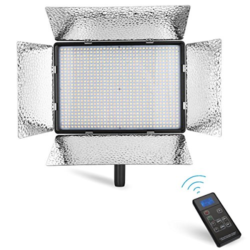 Powerextra 900 Beads Bi-Color CRI 96+ 70W Dimmable LED Video Light Panel, 2.4G Remote Control, Adjustable Color Temperature 3200K-5500K for DSLR Camera Camcorder Studio Photography,YouTube Video Shoot